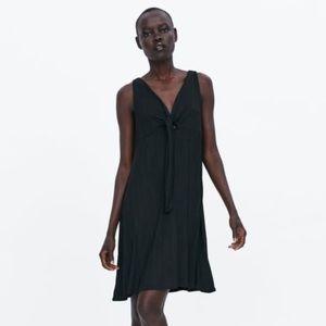 Black Zara Knotted Dress NWOT